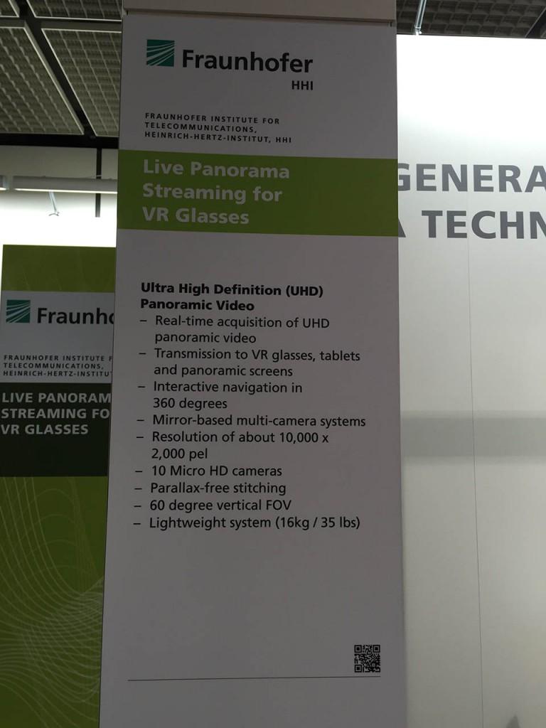 Zur IFA 2015 hat Fraunhofer seine Panorama-Kamera weiterentwickelt.